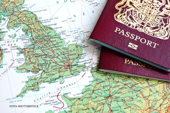 pasaport britanic, harta Europei