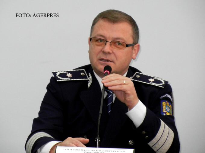 Chestorul de politie Liviu Popa, seful IPJ Bihor
