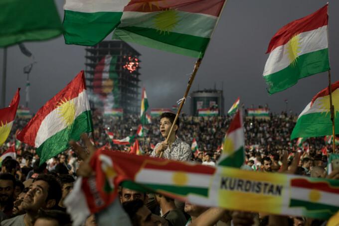 miting pro-indepedenta al kurzilor din Irak