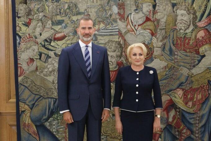 Viorica Dăncilă, primită de regele Spaniei.