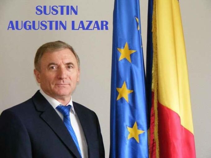 miting pentru Augustin Lazar