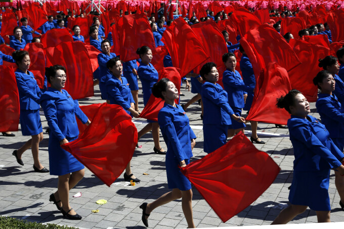 Parada in Coreea de Nord