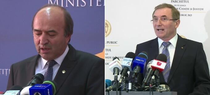Ministrul Justiţiei, Tudorel Toader, procurorul general, Augustin Lazăr