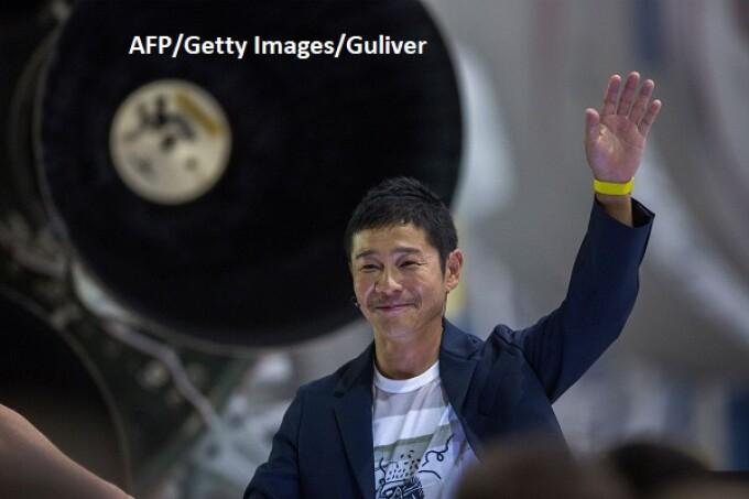 Yusaku Maezawa, primul turist spatial - AFP/Getty