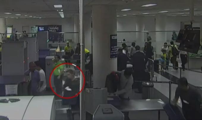 Momentul în care o femeie încerca să scoată ilegal din ţară un bebeluş