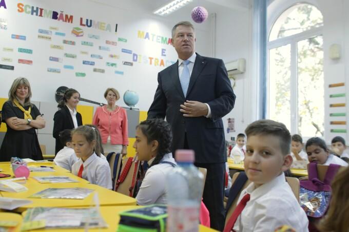 Klaus Iohannis a fost prezent la deschiderea anului şcolar