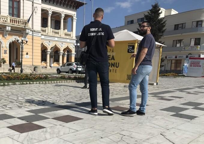 Corturi de campanie vandalizate la Buzău