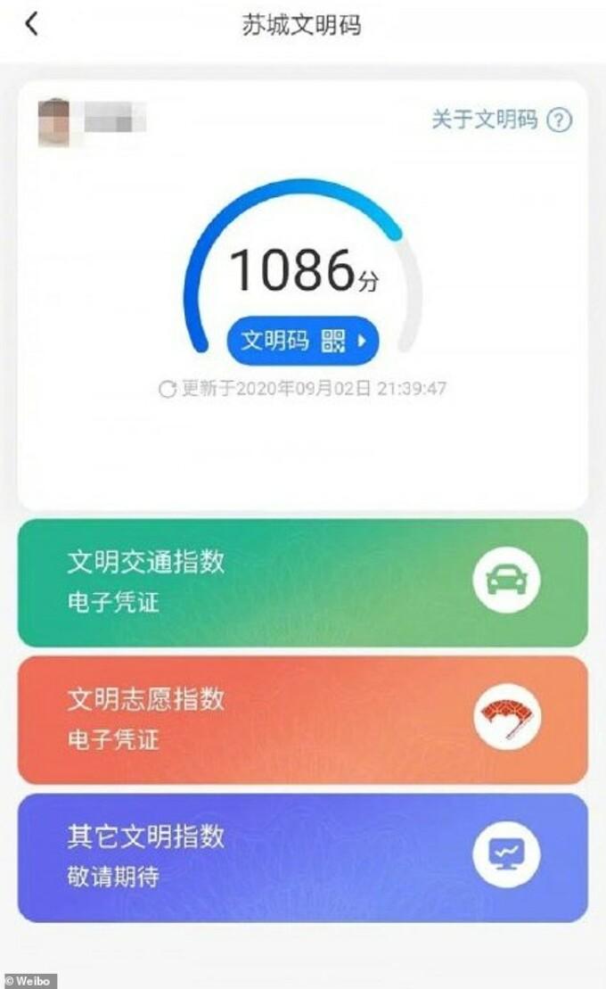 aplicatia chinezeasca de control a cetatenilor