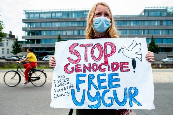 Protest față de persecuțiile asupra Uigurilor