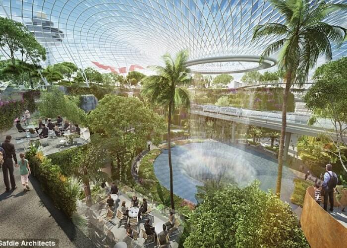 Modernizarile au costat 1 miliard de euro: Cum va arata aeroportul din Singapore cu cascade! FOTO