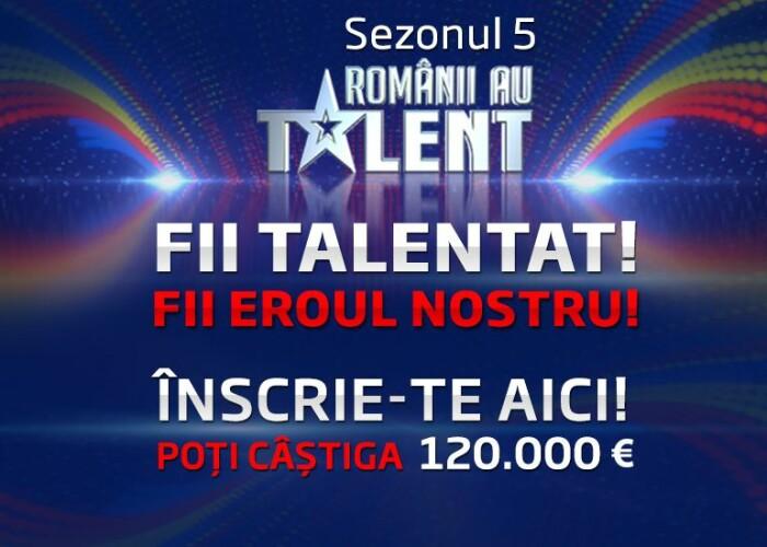 Incep inscrierile pentru Romanii au talent , cel mai iubit show al romanilor!