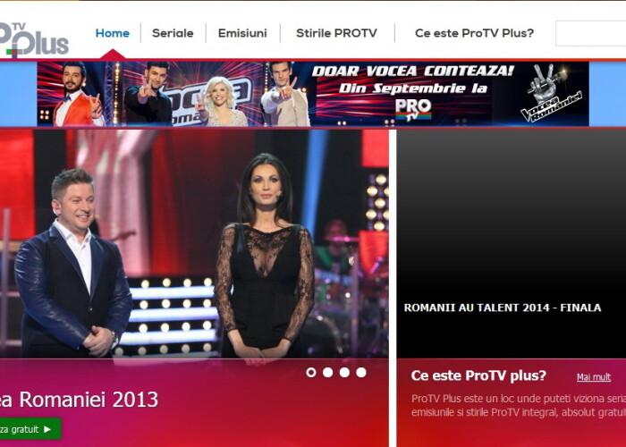 Pro TV Plus, platforma video online gratuit