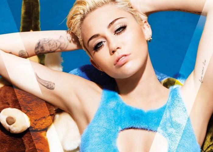 Miley Cyrus a pozat nud pentru Karl Lagerfeld! FOTO