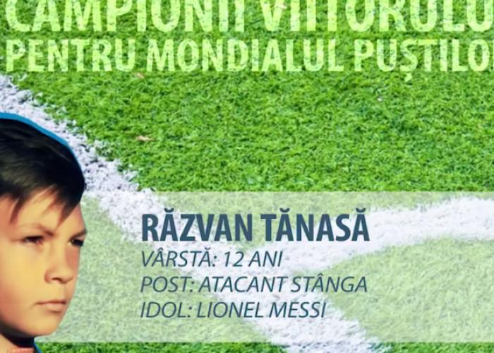 Are 12 ani si si-a petrecut jumatate din viata pe terenul de fotbal. Pustiul roman care se inspira de la Messi pentru a face Romania MARE