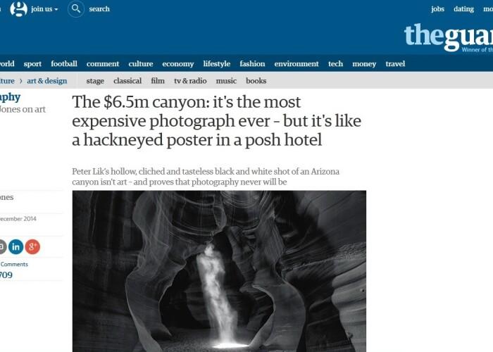 6,5 milioane de dolari: Asa arata cea mai scumpa fotografie vanduta vreodata! FOTO
