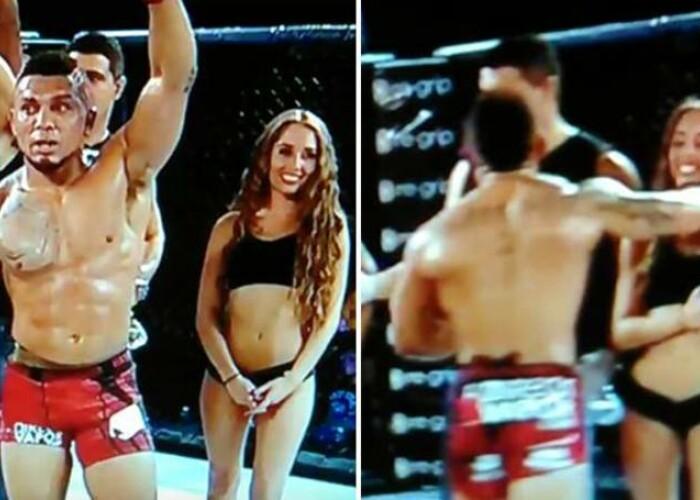 Nu degeaba i se spune BESTIA! Un luptator de MMA a lovit o femeie dupa ce a pierdut un meci! Imaginile socante care fac inconjurul lumii