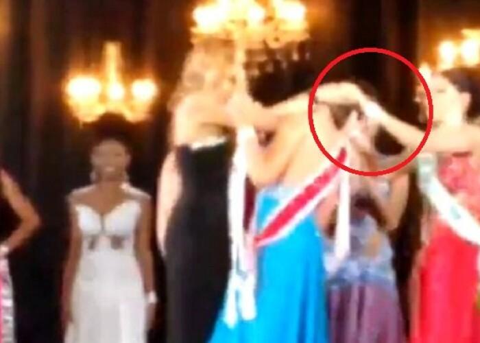 O finalista la concursul Miss Amazon 2015 a smuls coroana de pe capul invingatoarei! VIDEO