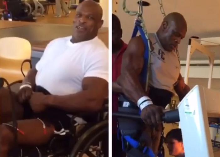 Unul dintre cei mai puternici oameni din lume a ajuns in carucior cu rotile, dar e incredibil cum arata cand isi da tricoul jos. Ronnie Coleman si-a pus solduri bionice