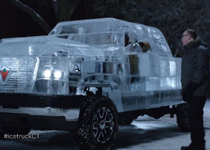 Au construit un camion de gheata functional special pentru asta: Uite despre ce este vorba: VIDEO