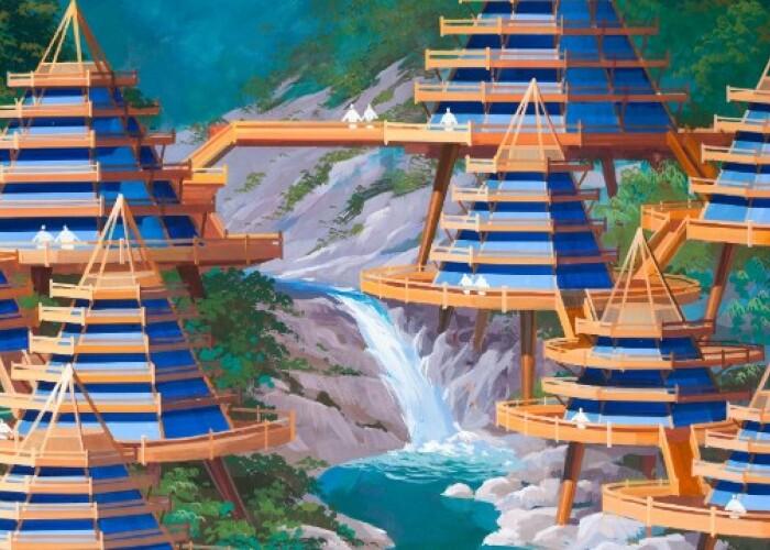 Cladiri conice, asezate pe piloni si fabrici futuriste de matase: Cum ar putea arata Coreea de Nord! FOTO