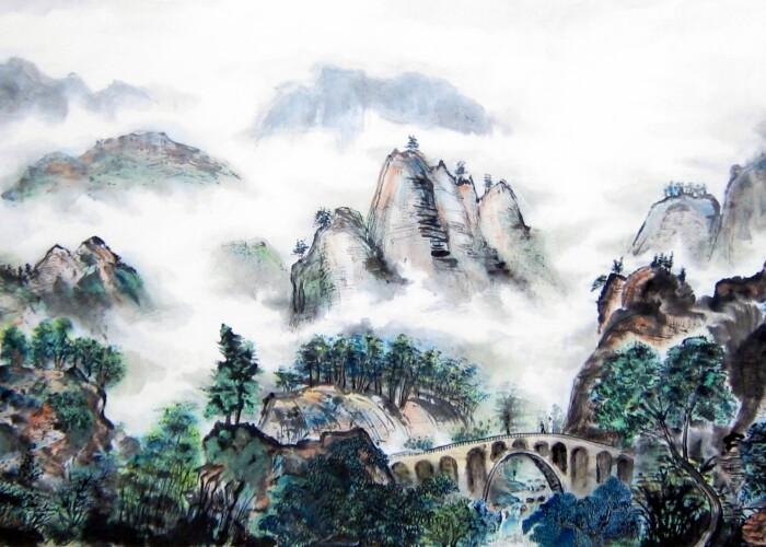O pictura chinezeaza sub forma de rulou a fost vanduta pentru un pret record! Uite care este suma