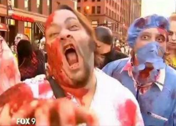 Record: Cum arata cea mai mare adunare de oameni deghizati in zombi VIDEO