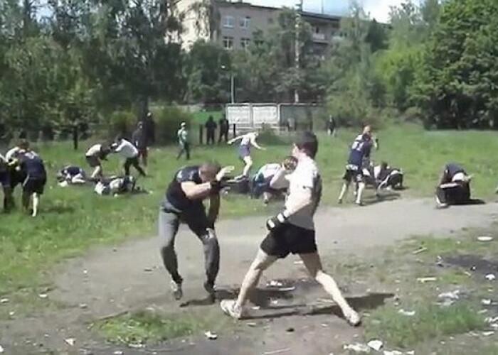 Cum se antreneaza huliganii rusi. Imagini socante cu bataile fara reguli organizate de ultrasi