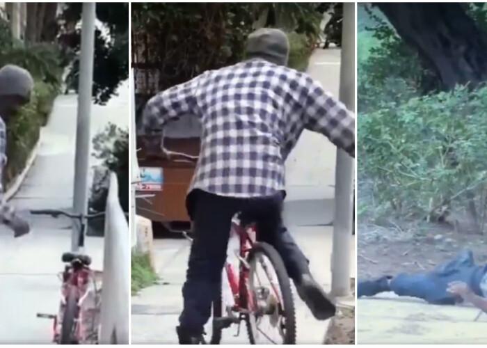 A vazut o bicicleta fara antifurt si s-a urcat pe ea. Ce s-a intamplat insa in momentul imediat urmator