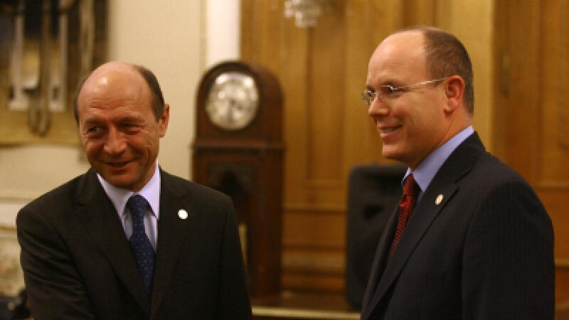 Printul Albert al II-lea de Monaco si Traian Basescu