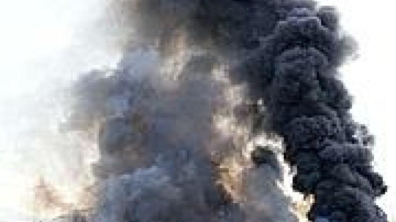 Incendiu fara victime. Trei vile din Bistrita au ars din temelii. Cauza: un scurtcircuit