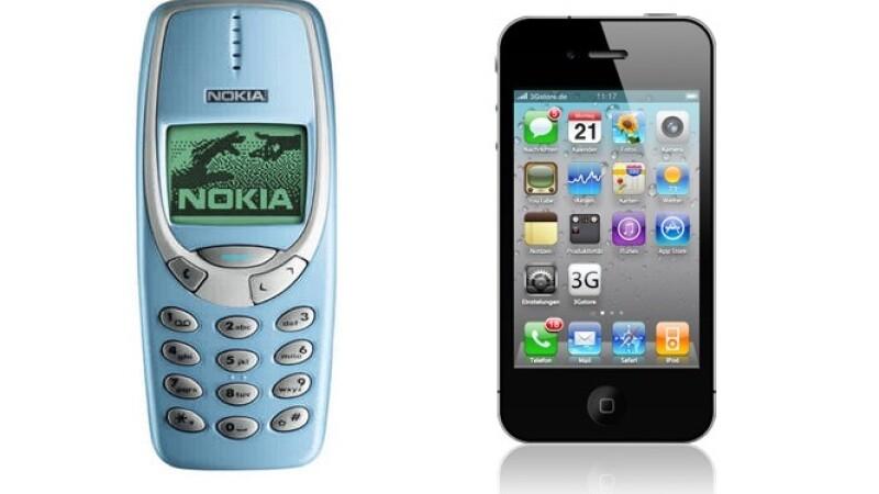 Batalia secolului: Nokia 3310 vs. iPhone 4S