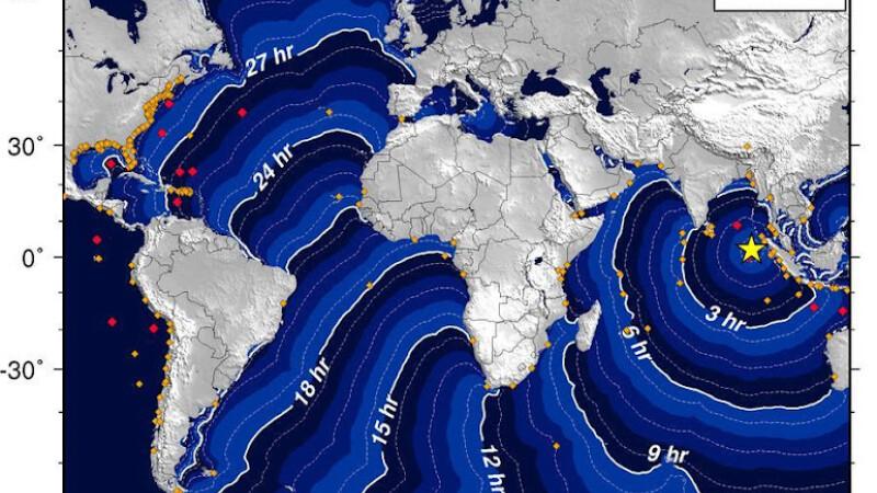 HARTA propagarii valurilor uriase. Unde ar putea ajunge tsunami-ul din Indonezia