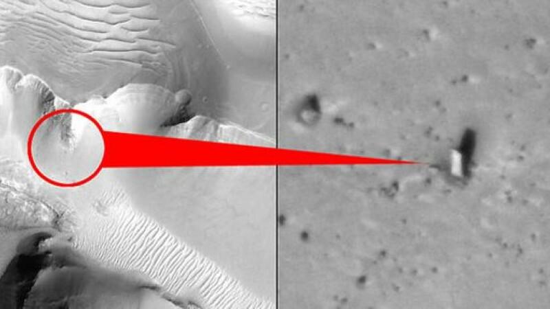 A fost descoperit un monument pe Marte. FOTO ULUITOARE