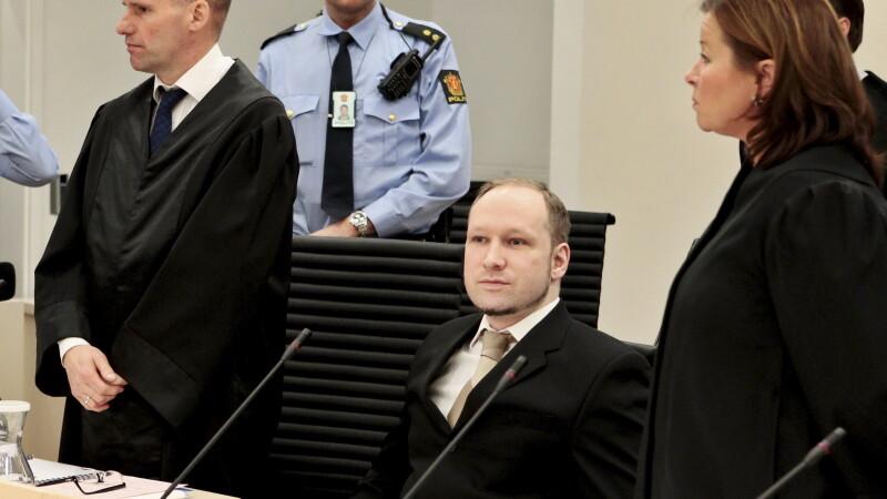 Pedeapsa cu moartea sau achitarea, singurele solutii corecte in opinia lui Breivik,asasinul din Oslo