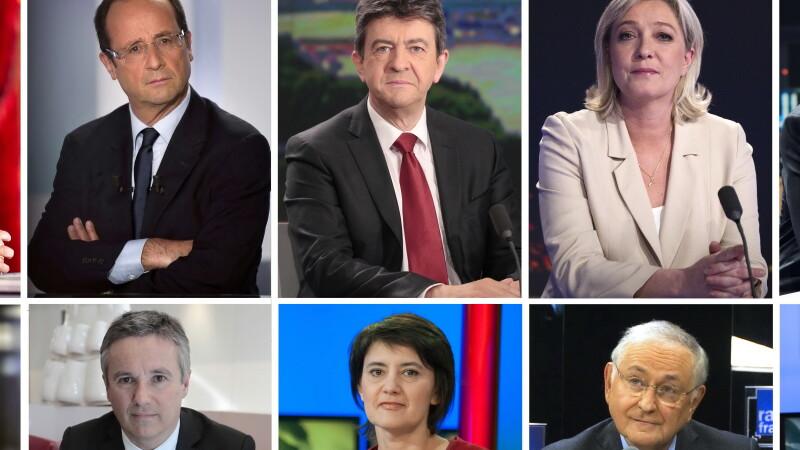 Candidati la alegerile prezidentiale din Franta 2012 - COVER