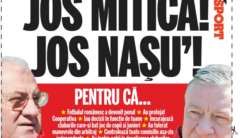 Vino la derby, daca tii la echipa ta si daca vrei o schimbare in fotbalul romanesc!