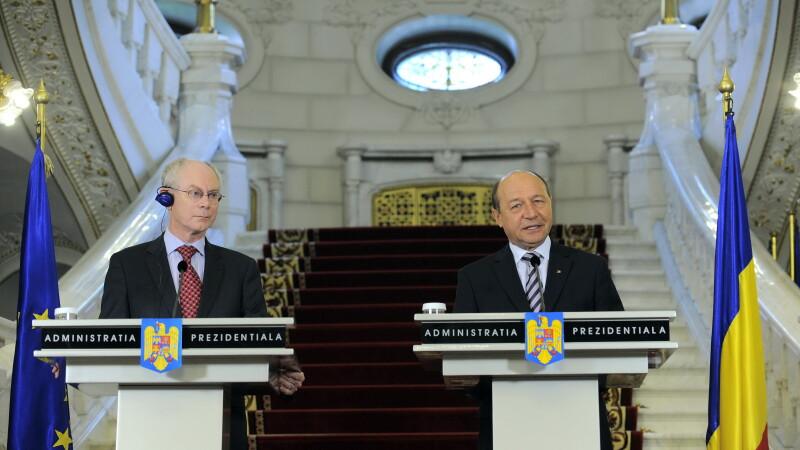 Herman Van Rompuy si Traian Basescu