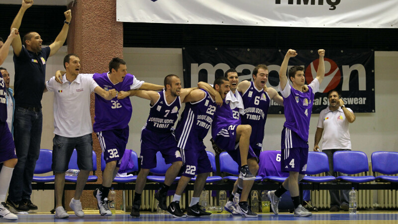 """""""Leii din Banat"""", aproape de finala campionatului de baschet"""
