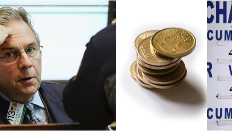 Cursul valutar, cea mai mare cotatie din istorie: 4,39 lei/euro. La casele de schimb: 4,44 lei/euro