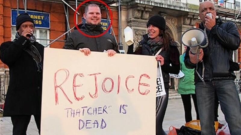 protest, deces Margaret Thatcher