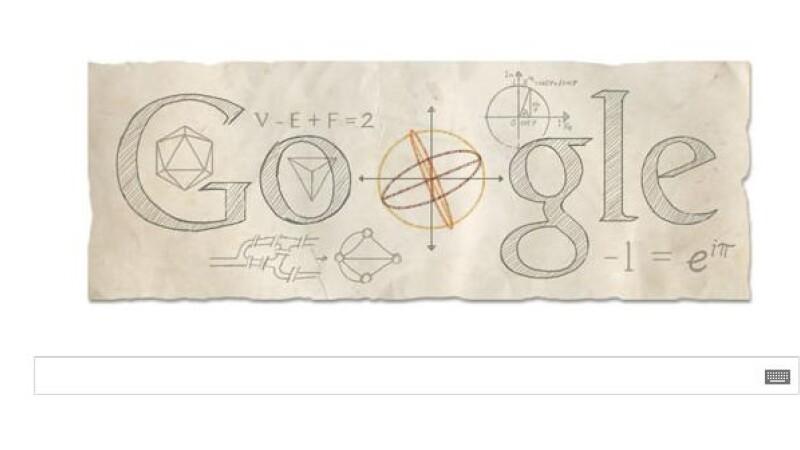 Leonhard Euler google doodle