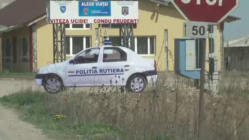 masina politia rutiera, panou