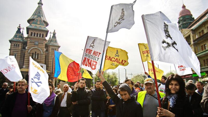 proteste, gaze de sist, Timisoara