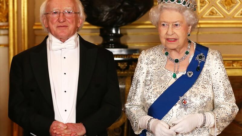 Michael D. Higgins si regina Elisabeta a II-a