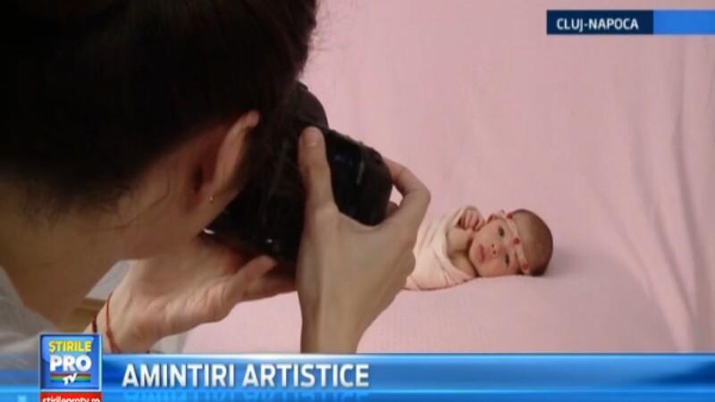 Bebelusii din Romania se aliniaza trendurilor internationale. Participa la sedinte foto inca din primele zile de viata
