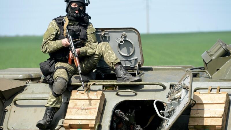Soldat din trupele speciale ucrainene