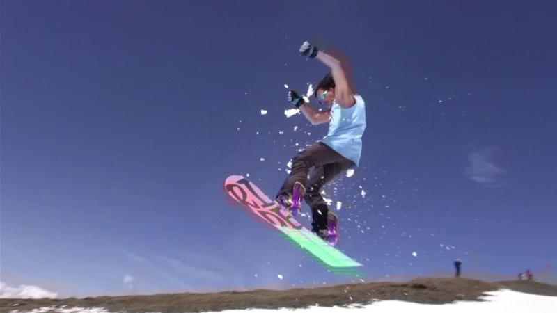 Snowboard, in Bucegi