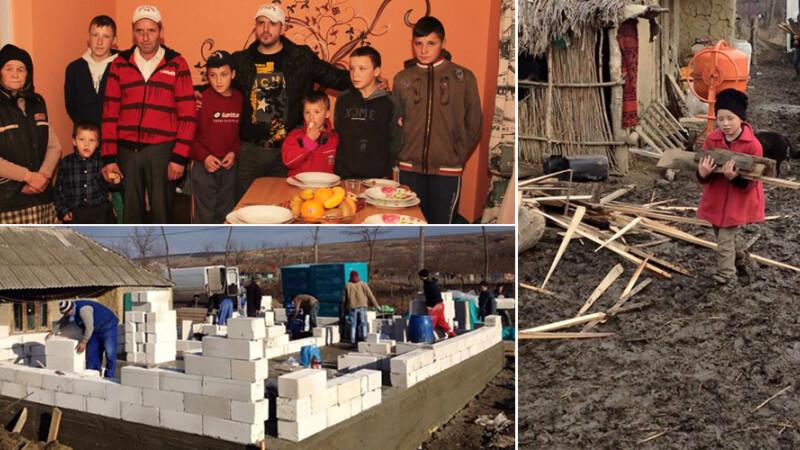 Cu ajutor de pe Facebook, a salvat din mizerie o familie cu 6 copii. De la reparatul unei sobe a ajuns sa le faca o casa noua