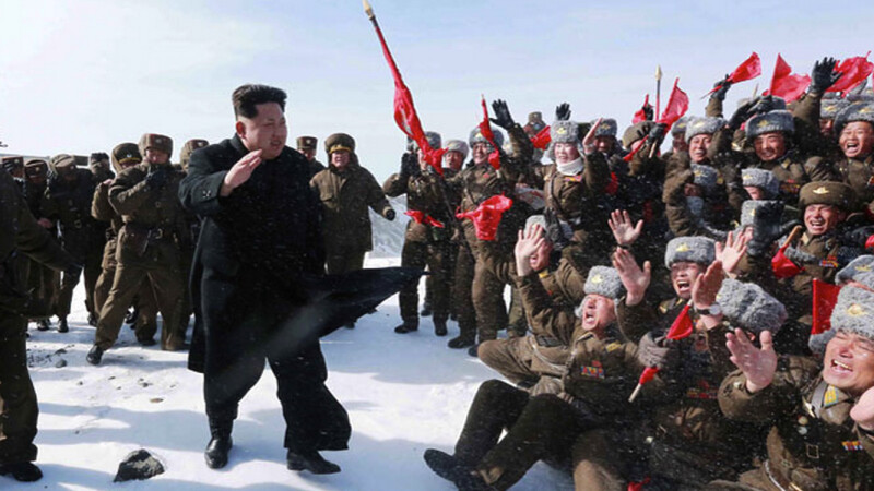 Kim Jong Un pe muntele Paektu