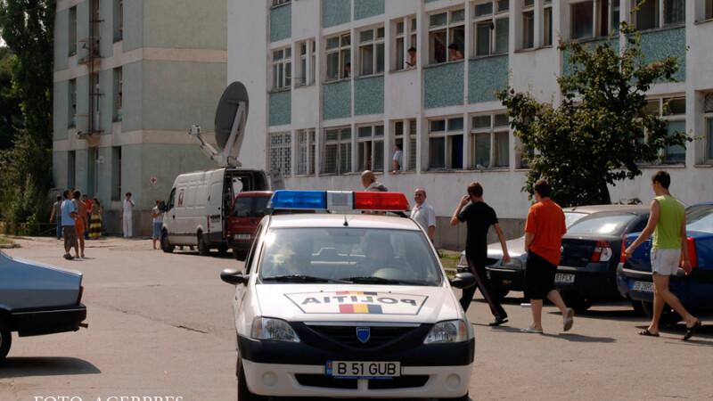 masina de politie in campus la Agronomie